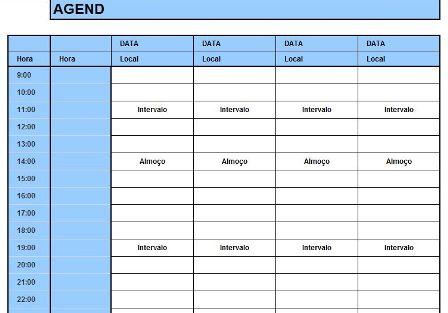 Agenda para Eventos