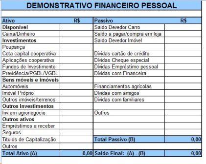 Demonstrativo Financeiro Pessoal