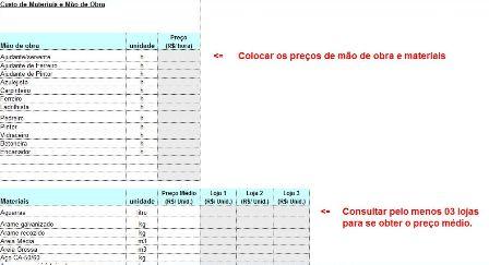 Or 231 Amento De M 227 O De Obra Para Constru 231 227 O Civil Planilha