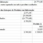 Controle de Custo para Produção